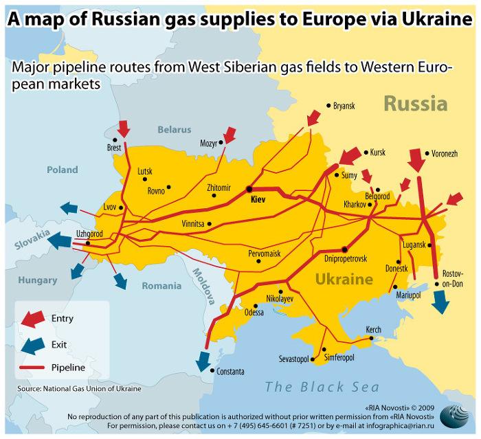 Ukraińskie gazociągi stracą na znaczeniu (i wartości) jeśli ruszy South Stream - rura zapewniająca Rosjanom alternatywny szlak dostaw do Europy  Południowej