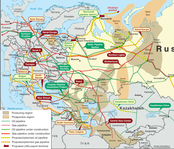 Rosyjskie gazociągi oplatają Europę. Jednakże jej zachodnia część jest zsieciowana i ma dostęp do surowca z innych źródeł. Dlatego Niemcom nie straszne zakręcenie kurka z gazem.