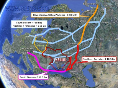 Suma kosztów budowy South Stream, EEGA