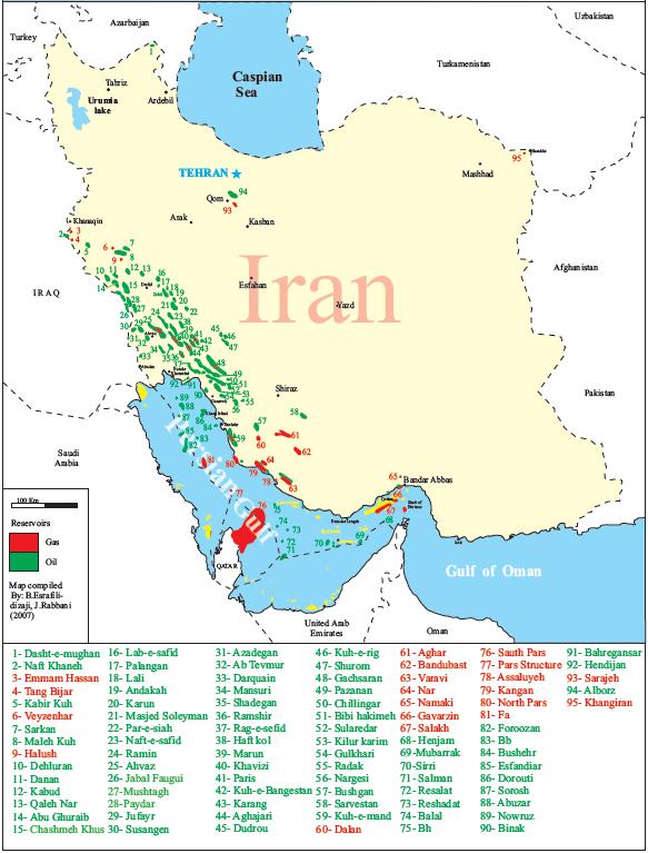 Zasoby gazu w Iranie wg. OPEC