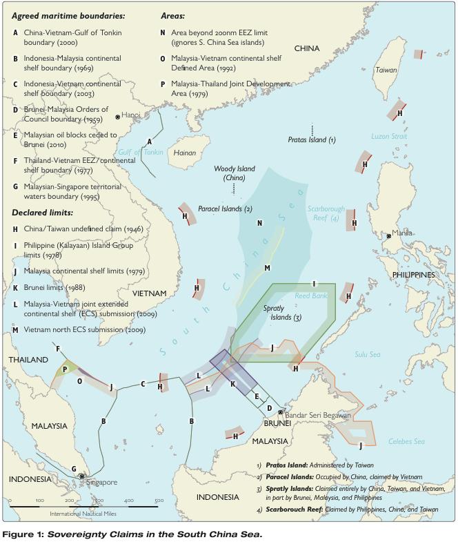 Pod dnem Morza Południowochińskiego mogą znajdować się zasobne złoża węglowodorów. Dlatego państwa regionu walczą o zwierzchność nad nimi. Na razie na płaszczyźnie politycznej.
