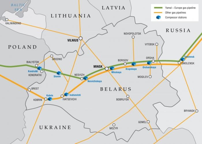 System przesyłu gazu na Białorusi.