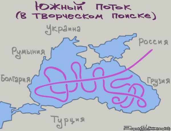 Fantazyjna koncepcja gazociągu South Stream