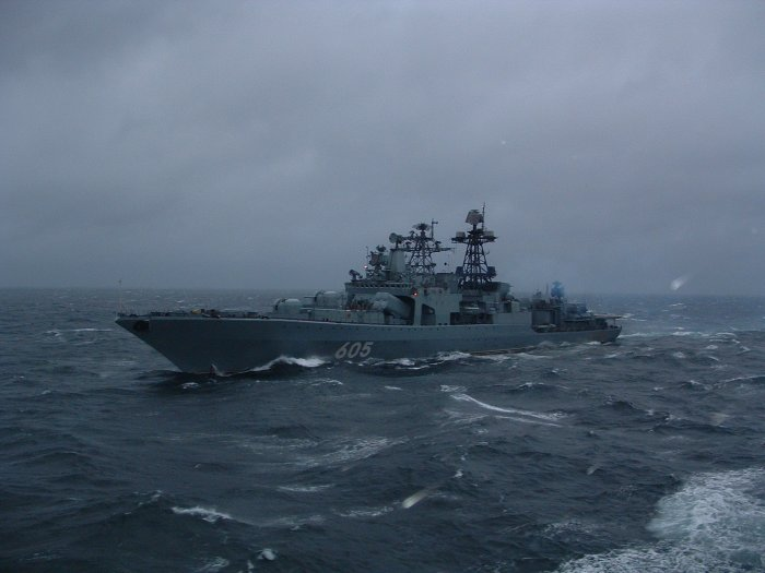 Okręt Admirał Leszczenko na Bałtyku