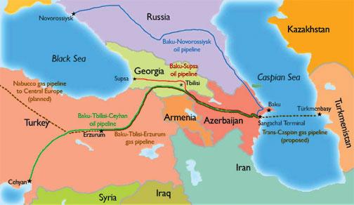 Ropociągi BTC i Baku-Supsa