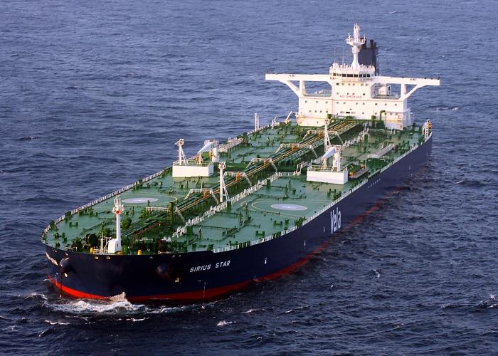Tankowiec Sirius Star na Oceanie Indyjskim