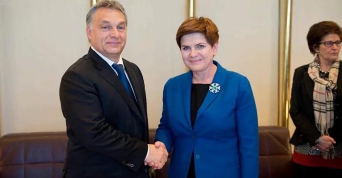 Premier Beata Szydło i Wiktor Orban