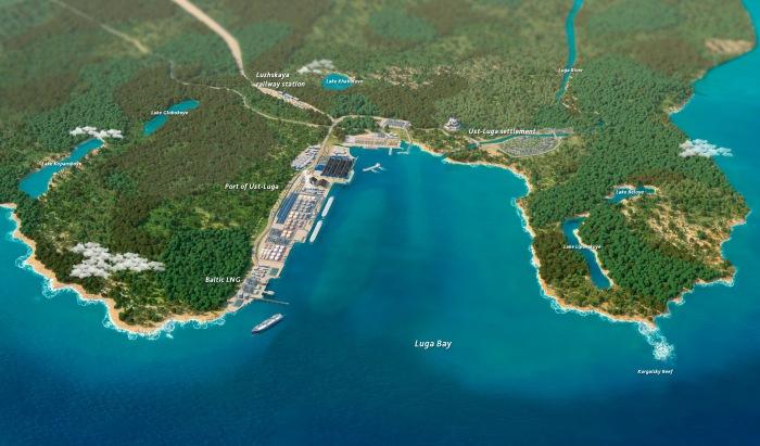 Baltic LNG. Grafika: Gazprom