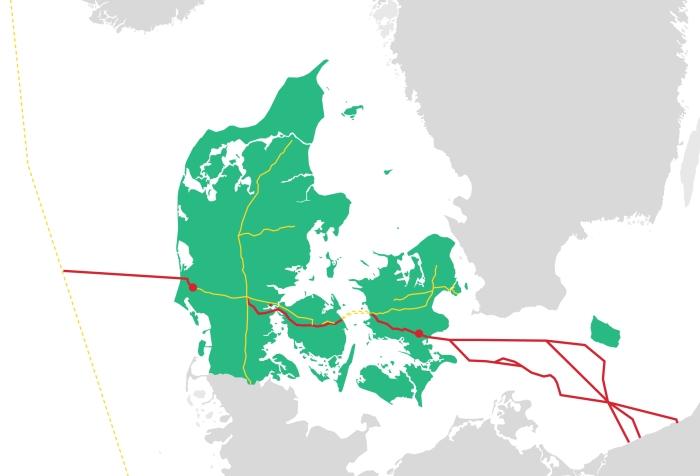 Baltic Pipe. Grafika: Energinet.dk
