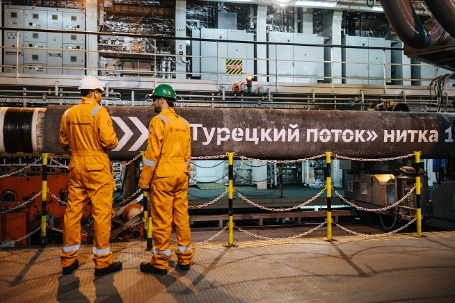 Budowa Turkish Stream. Fot.: Gazprom