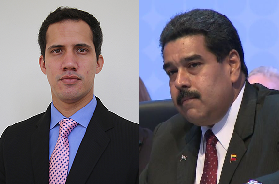 Juan Guaido i Nicolas Maduro. Fot. Wikimedia Commons