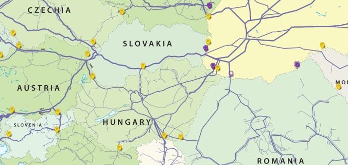 Połączenia gazowe z Ukrainą. Fot. Ukrtransgaz
