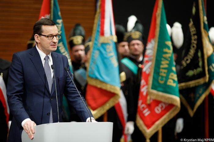Premier Mateusz Morawiecki na Barbórce. Fot. Kancelaria Premiera