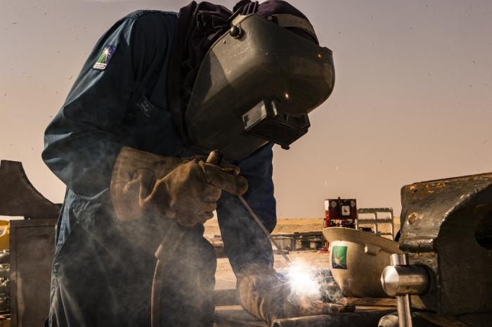 Prace na wiertni Saudi Aramco. Fot. Saudi Aramco