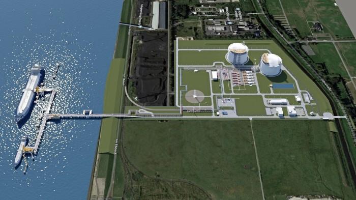 Gazoport w Brunsbuttel w Niemczech. Fot. German LNG Terminal