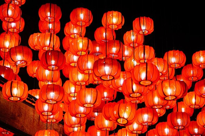 Lampiony noworoczne w Chinach. Fot. Wikimedia Commons